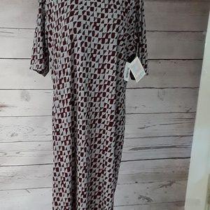 Lularoe Julia Dress 3XL NWT Gray Pretty